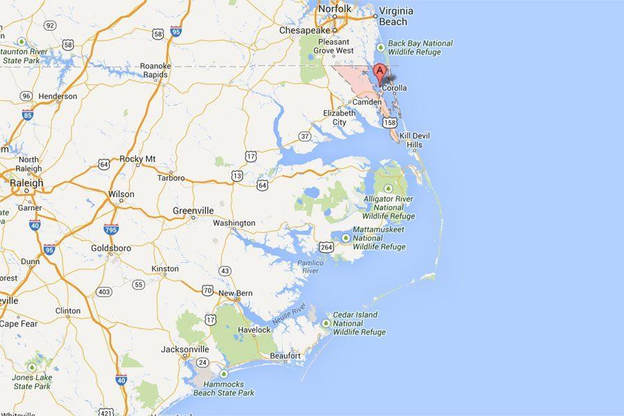 Currituck County, North Carolina Map