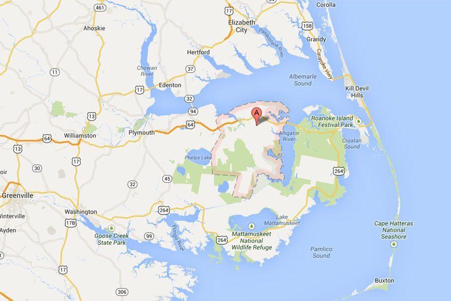 Tyrrell County, North Carolina Map